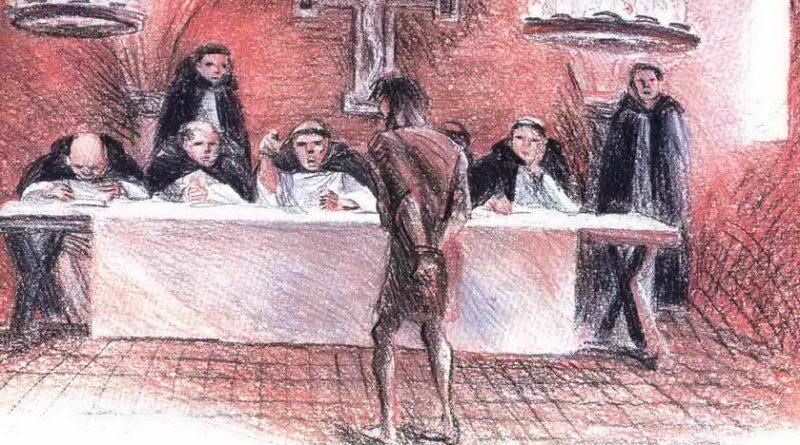 Суд над еретиком в средние века